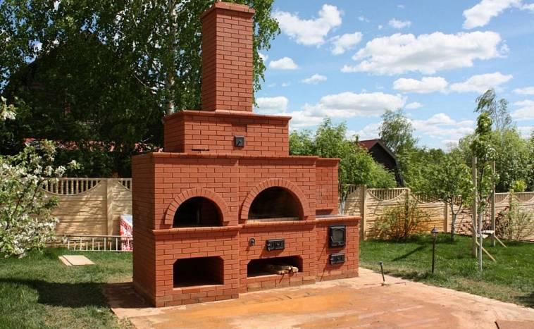 Камин барбекю из кирпича, как построить подобное сооружение своими руками