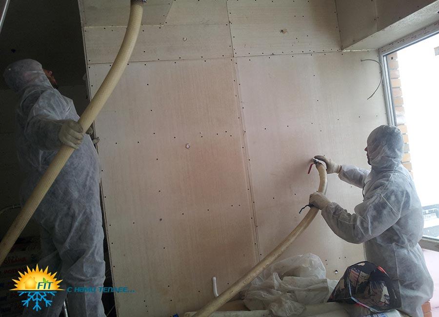 Утепление пеноизолом, теплоизоляция стен, полов дома жидким пенопластом своими руками
