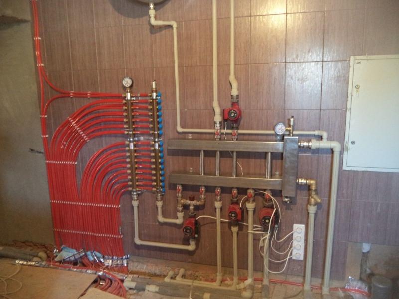 Как сделать водяной теплый пол от газового котла?
