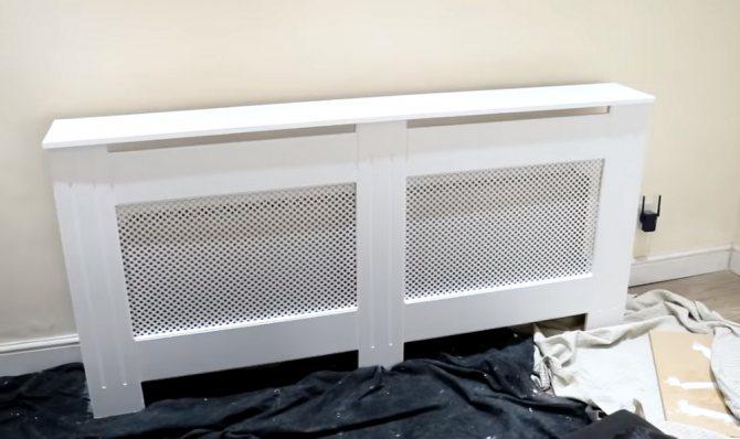 Старые батареи не украшают помещение? изготовление экрана на радиатор отопления своими руками