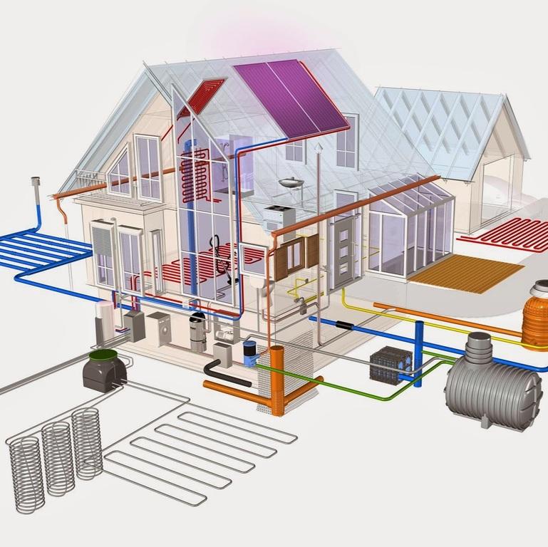 Проектирование отопления для частного дома, расчет системы