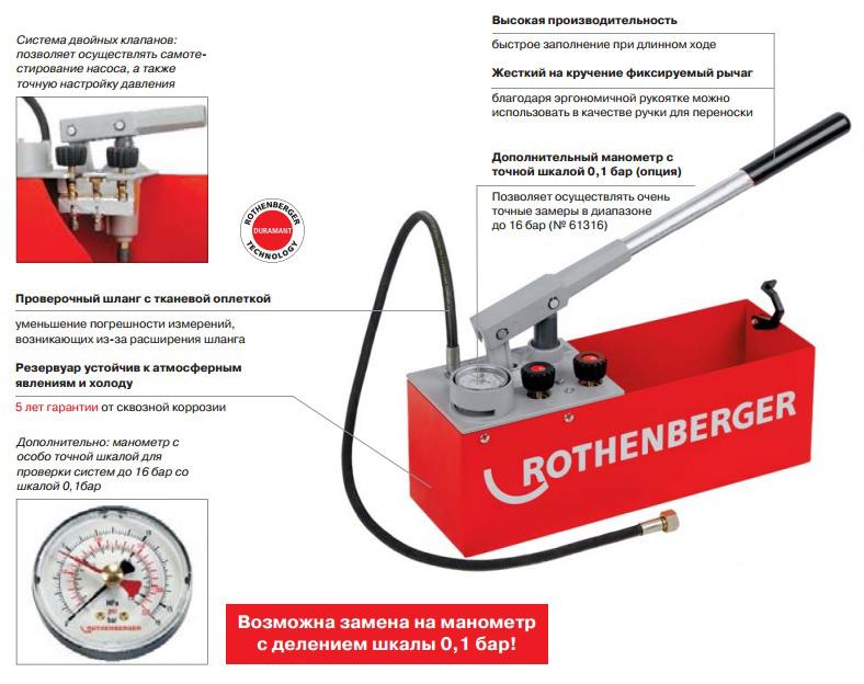 Насос для опрессовки системы отопления: аппарат промывочный и воздушный по снип