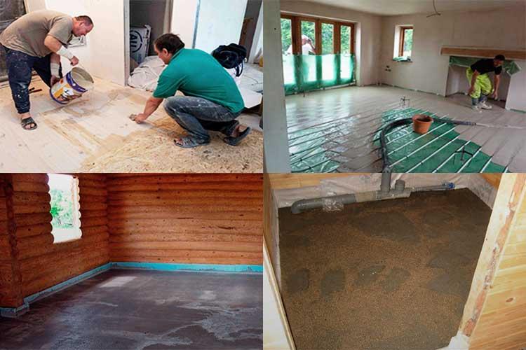 Деревянный пол в квартире - варианты устройства, как сделать своими руками