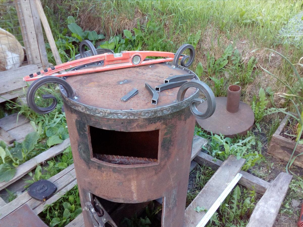 Печь для казана своими руками из кирпича, трубы и дисков