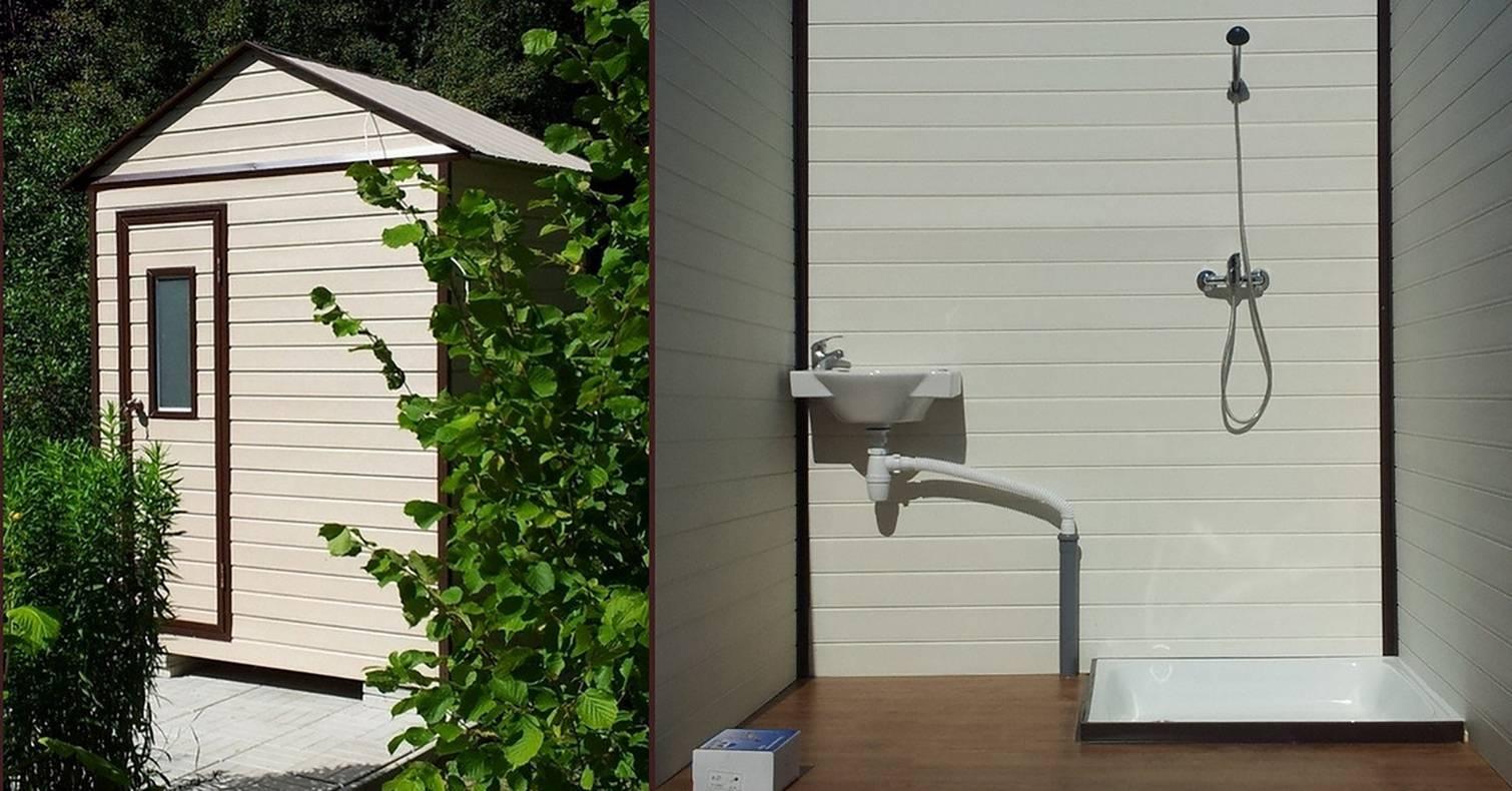 Теплый душ на даче:инструкция как сделать своими руками, особенности утепленных конструкций, с подогревом, чертежи, цена, фото