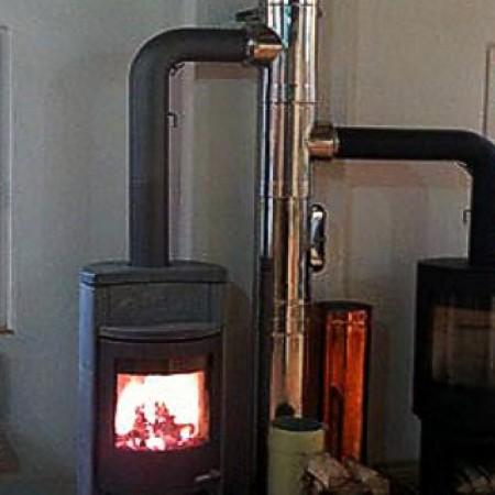 Печь без дымохода: электрический вариант, биокамин, кафельная модель
