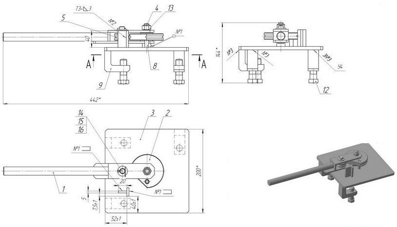 Трубогиб для профильной трубы своими руками - чертежи, схемы