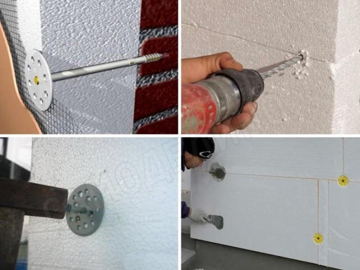 Крепление пенопласта к стене – просто и быстро