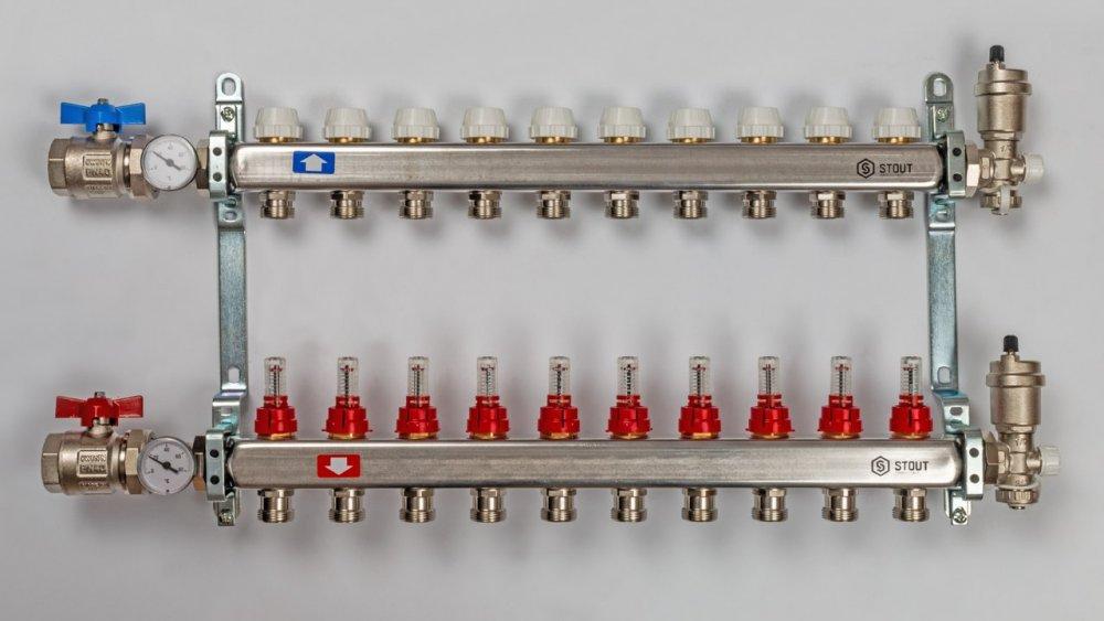 Гребёнка для тёплого пола: устройство, принцип работы, схемы подключения, сборка, монтаж и регулировка своими руками