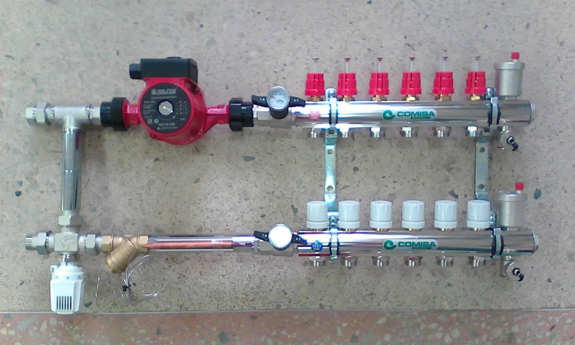 Устройство коллектора для теплого водяного пола