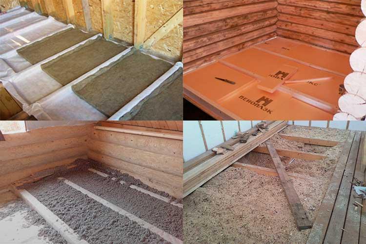 Утеплитель для пола в деревянном доме: какой лучше, виды утеплителей под пол, правила выбора и монтаж