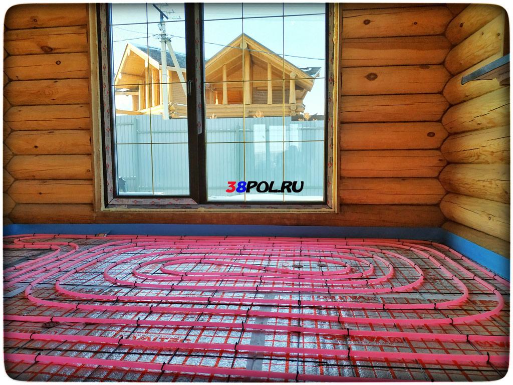 Характеристики водяного теплого пола, устанавливаемого в деревянном доме