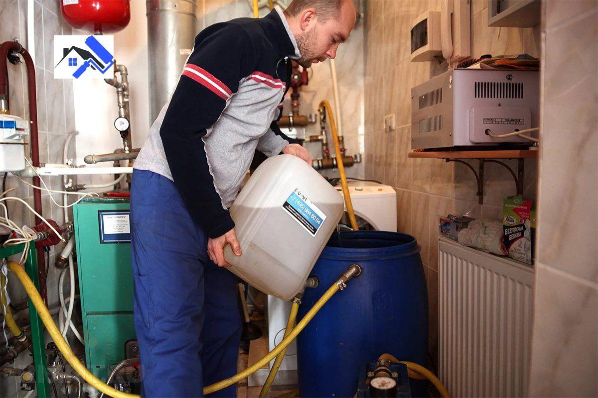 Промывка систем отопления частного дома, химпромывка труб здания