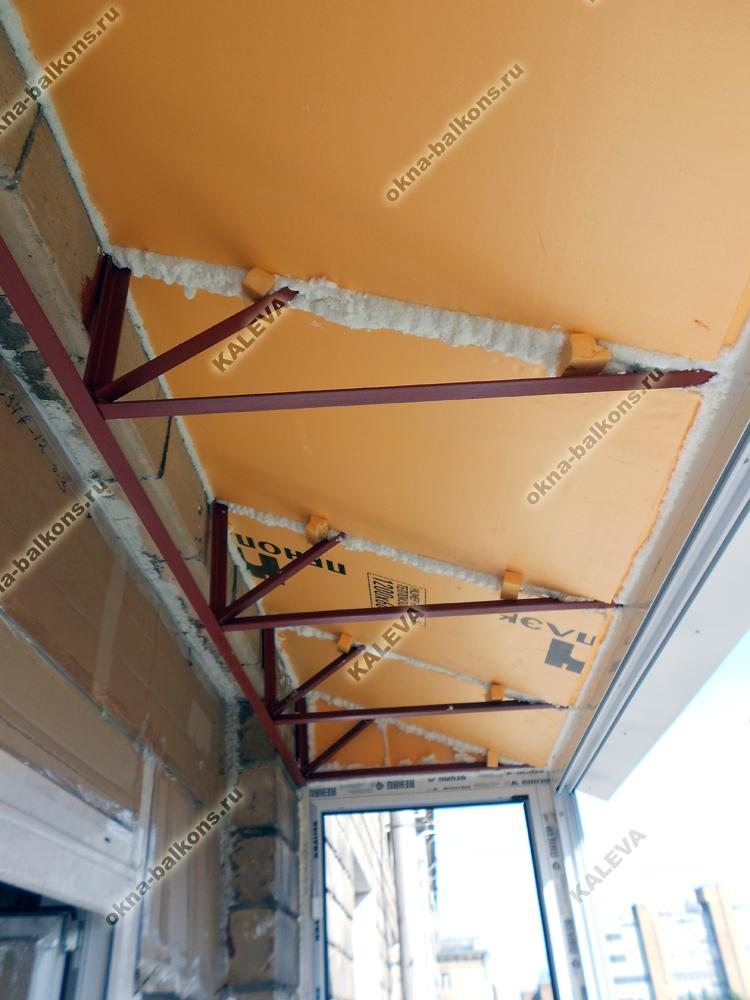 Гидроизоляция и утепление крыши балкона
