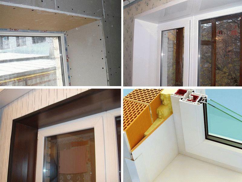 Популярные варианты отделки оконных откосов снаружи и внутри: материалы и технологии | (фото & видео)