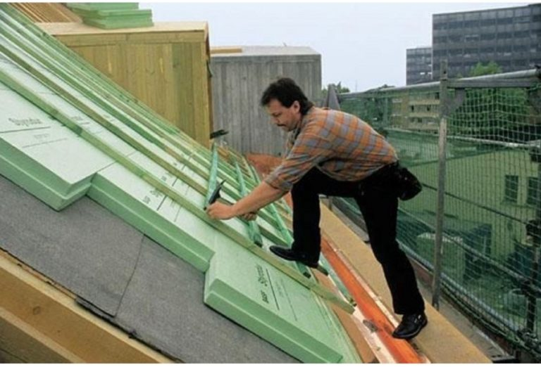 Технология утепления крыши пенопластом