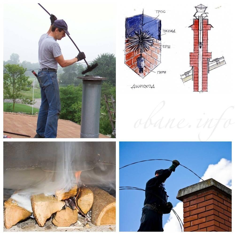 Как прочистить дымоход: очистка дымохода от сажи своими руками