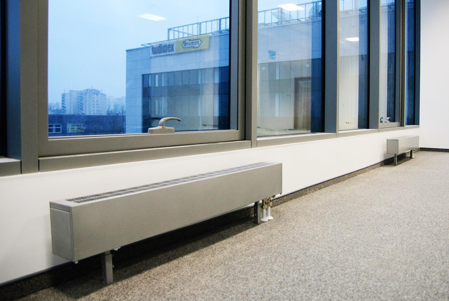 Использование низких радиаторов отопления для панорамных окон