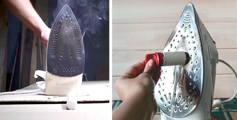 Как почистить утюг в домашних условиях|чем очистить подошву утюга