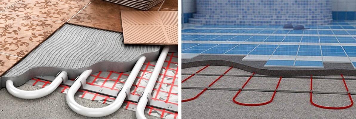 Теплый пол электрический под плитку - монтаж, видео