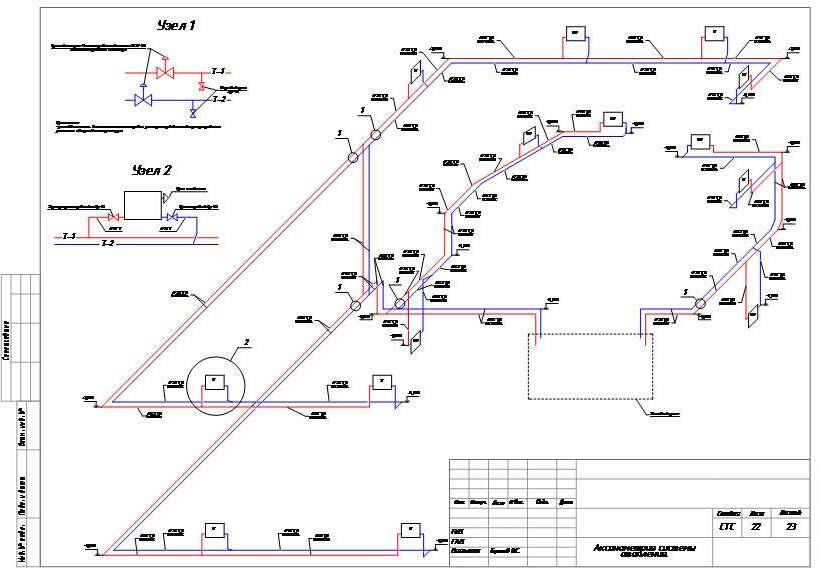 Чертежи канализации. схема канализации и план разводки