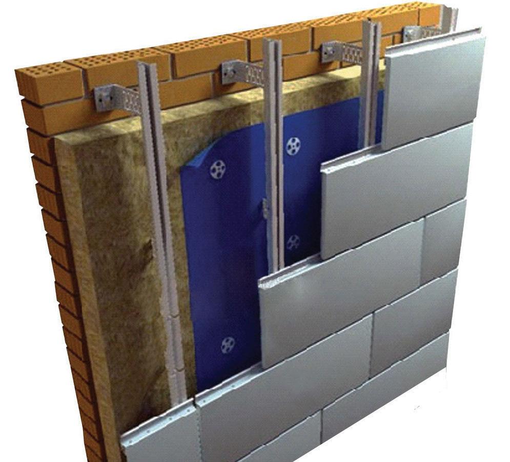 Утеплитель для вентилируемых фасадов, панели и облицовка, расчет материала