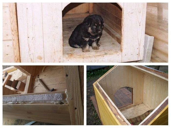 Как утеплить будку для собаки на зиму своими руками фото видео инструкция