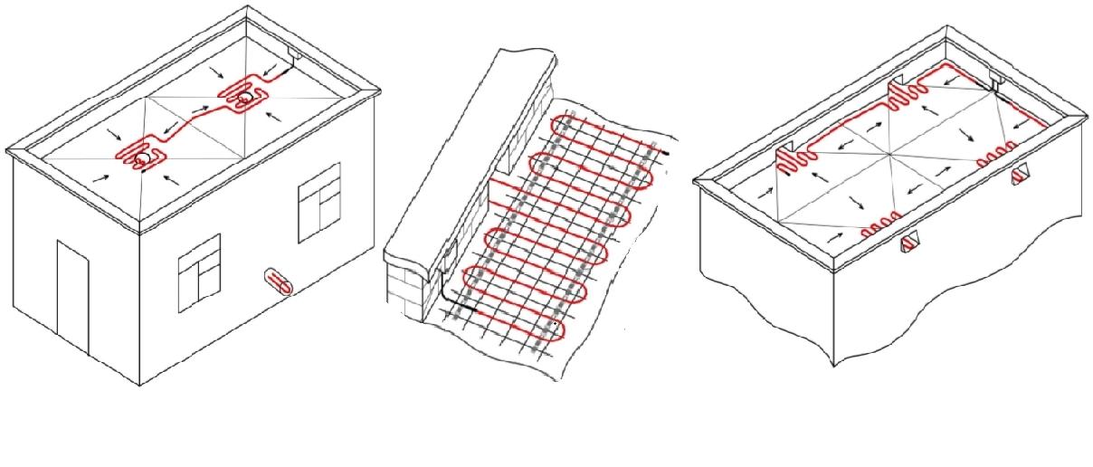Монтаж обогрева водостоков - как проложить систему обогрева