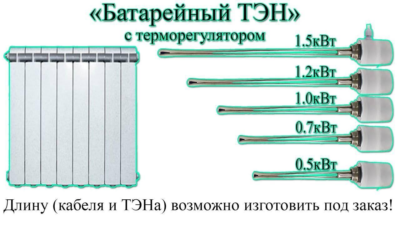 Применение ТЭНов для отопления