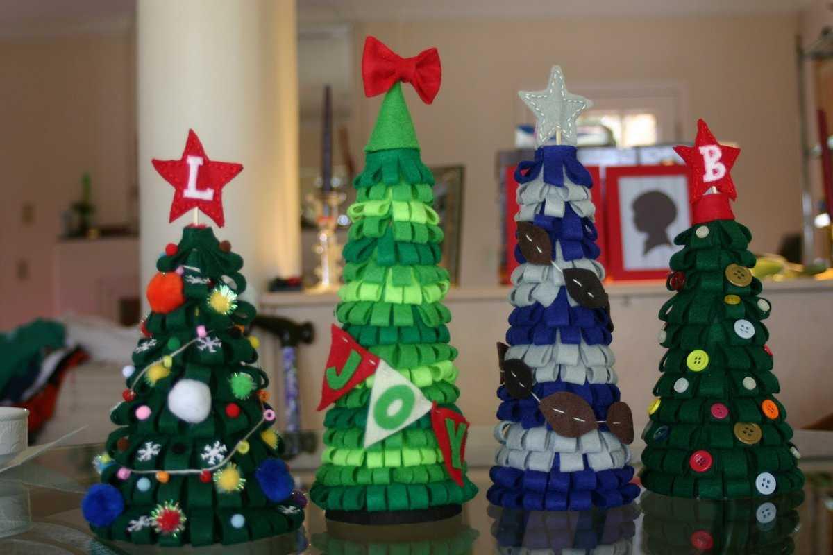 Как сделать новогоднюю елочку своими руками из подручных материалов: мастер-классы по изготовлению разных елочек с фото