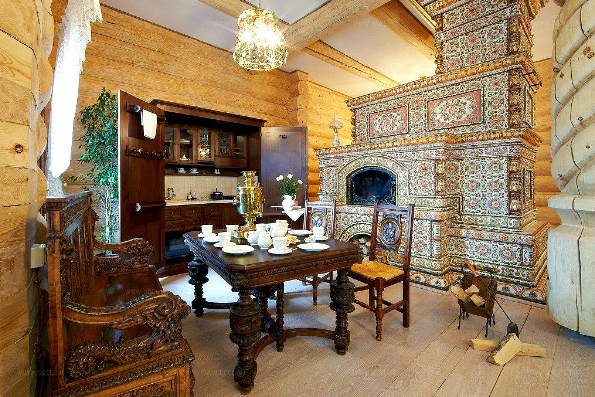 Русская печь в интерьере современного частного дома - 25 фото