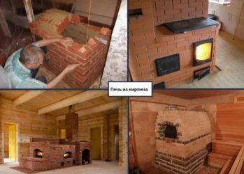 Дизайн кухни с печкой в частном доме