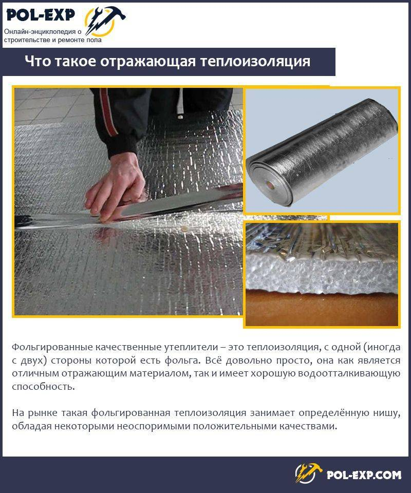 Фольгированный утеплитель: рулонная теплоизоляция с фольгой, утепление потолка и стен, название утепляющих материалов с алюминиевым покрытием