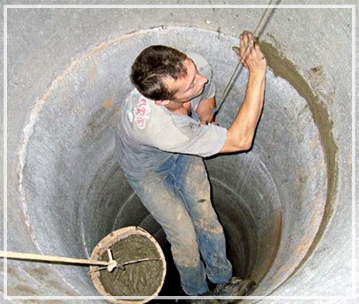 Гидроизоляция септика из бетонных колец изнутри от грунтовых вод