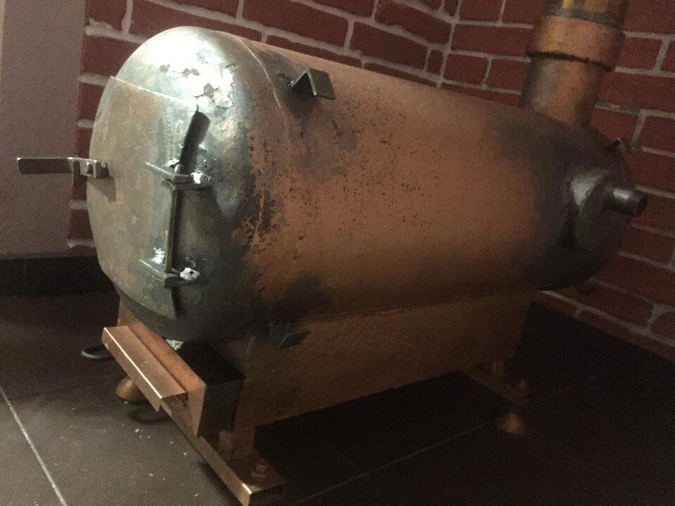 Печь из газового баллона длительного горения, на отработке: чертежи