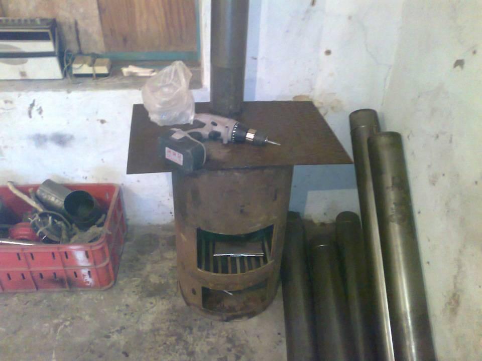 Печь для гаража своими руками на дровах (самодельная)