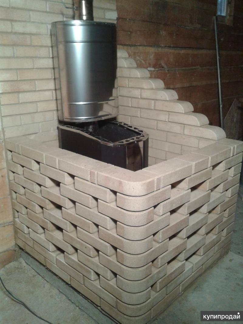 Чем обложить печь в бане кроме кирпича — elite-k