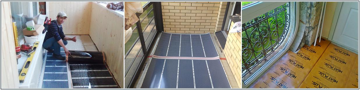 Теплый пол на балконе (77 фото): деревянный и ламинат, как поднять на лагах, какой лучше на лоджии электрический или водяной, чем застелить