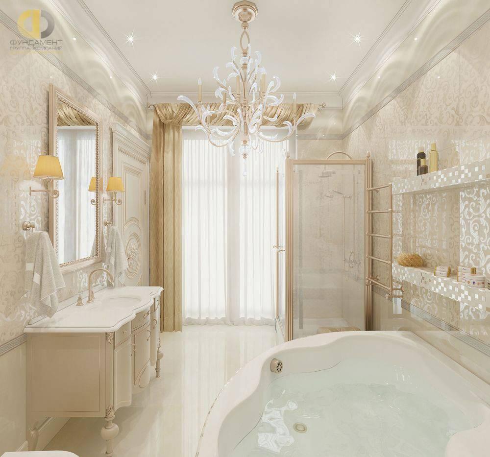 Ванная комната в классическом стиле +75 фото дизайна и интерьера