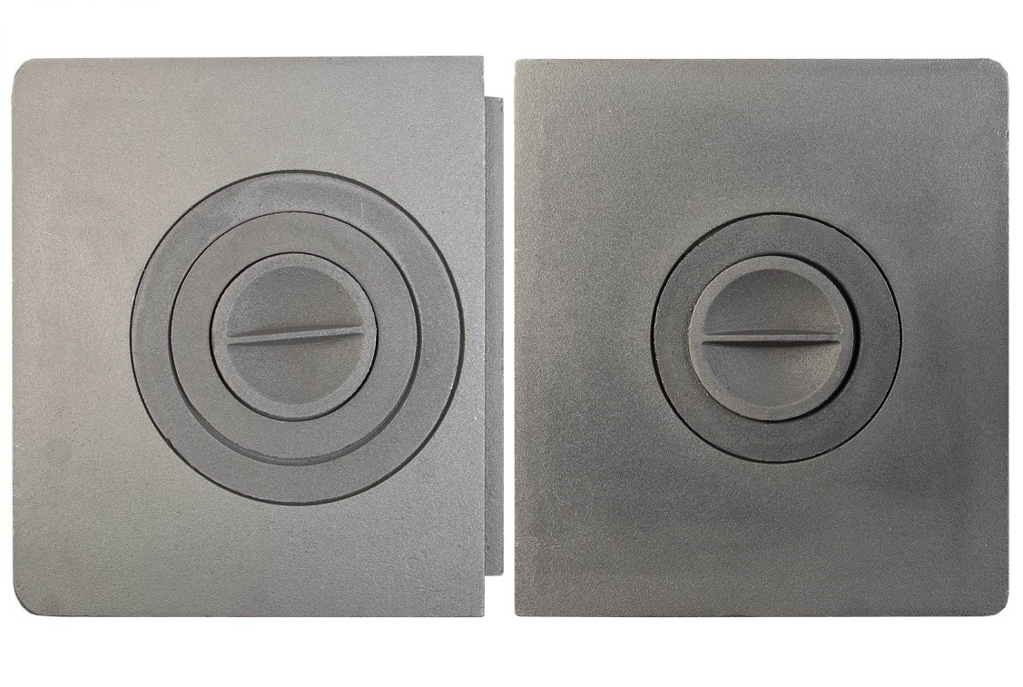 Укладка чугунной плиты на печь