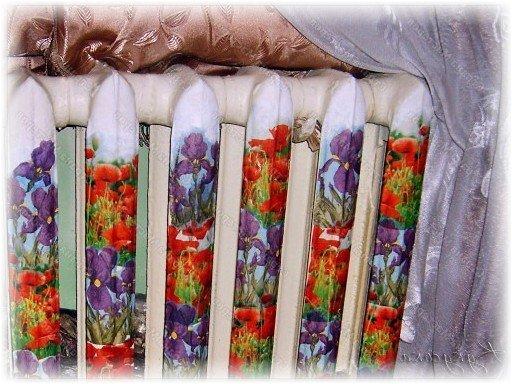 Декупаж батареи отопления своими руками: декор салфетками, как украсить радиаторы наклейками, фото и рисунки