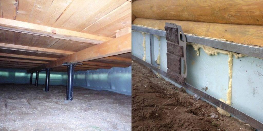 Как утеплить фундамент деревянного дома снаружи (в т.ч. свайно-винтового)