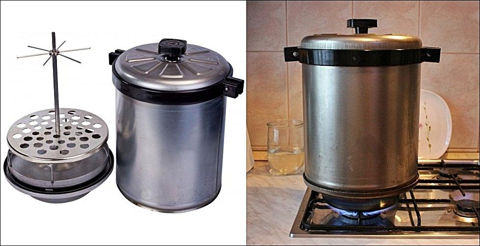 Промышленная коптильня: профессиональная для малого бизнеса, производственное устройство холодного и горячего копчения в ресторане