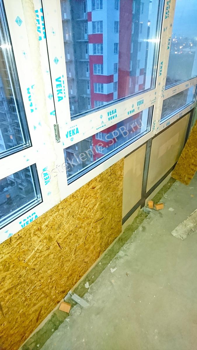Утепление балкона и лоджии с холодным остеклением
