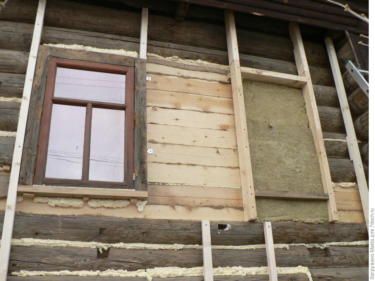 Утепление брусового дома снаружи: как и чем утеплить стены