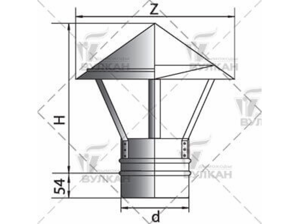 Колпак на трубу дымоходасвоими руками: чертежи, пошаговая инструкция по изготовлению