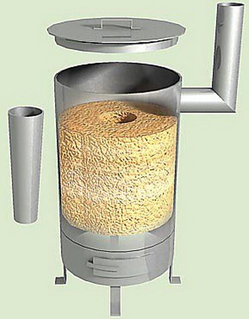 Печка на опилках длительного горения своими руками: схема, инструкция и рекомендации