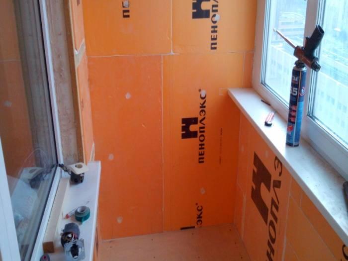 Утепляем балкон пеноплексом своими руками — этапы работ!