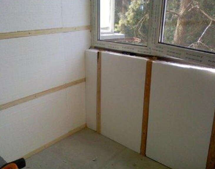 Инструкция по утеплению балкона и лоджии пеноплексом своими руками