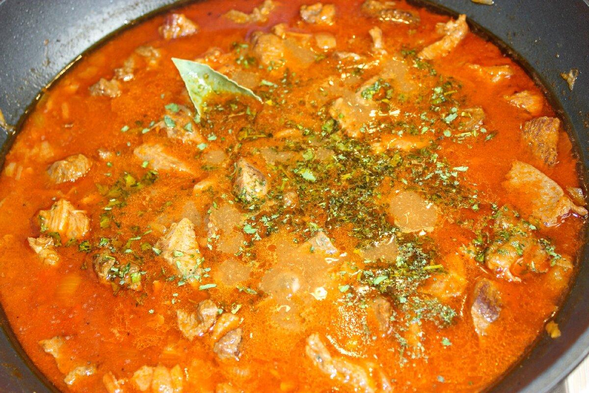 Говядина, тушеная в томатном соусе - 24 пошаговых фото в рецепте